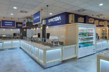Interiér samoobslužné restaurace Appetera na míru