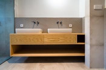Interiér koupelny do rodinného domu na míru