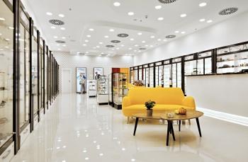 interiér prodejny na míru v luxusním stylu