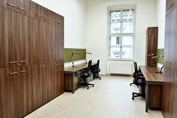 Interiér kanceláře Masarykovi univerzity